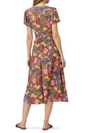 Magnolia Violet Midi Dress by Auguste