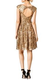 Golden Flower Dress by Badgley Mischka