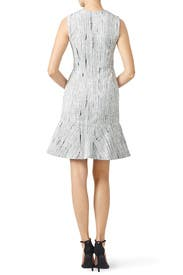 White Rustic Crackle Dress by Cut 25