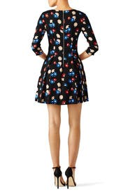 Abstract Floral Flare Dress by Suno