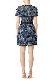 Denim Lace Ariella Dress by Nicole Miller