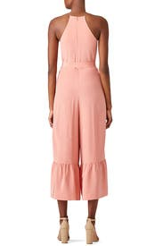 Pink Halter Ruffle Jumpsuit by Tibi