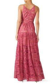 Fuchsia Melina Lace Maxi by Dress The Population
