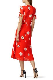 Red Rosalinda Dress by Reformation