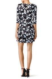 Blue Poppy Print Dress by Suno