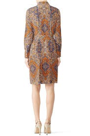 Soiree Pleated Shirtdress by Tory Burch
