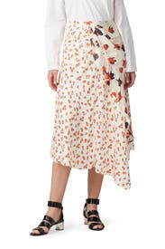 Asymmetric Floral Printed Skirt by Self-portrait