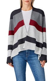 Striped Front Drape Cardigan by Thakoon Collective
