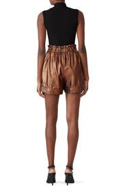 Bronze High Waist Shorts by (nude)