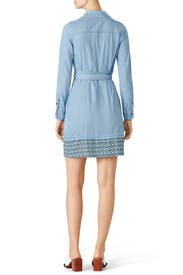 Savion Collared Chambray Wrap Dress by Diane von Furstenberg