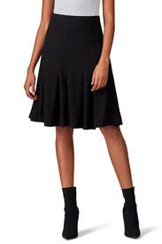 Black Ruffle Midi Skirt by Thakoon Collective
