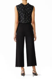 Scalloped Crop Pants by Rebecca Taylor