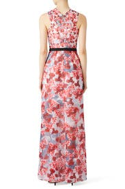 Red Floral Gown by Prabal Gurung