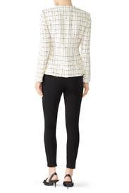 Plaid Tweed Zip Jacket by Rebecca Taylor