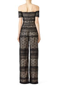 Bicolor Lace Jumpsuit by ML Monique Lhuillier