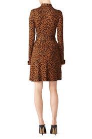 Leopard Side Tie Shirtdress by Diane von Furstenberg