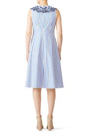 Stripe Ruffle Eyelet Dress by Draper James