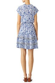 Blue Floral Tie Dress by Rebecca Taylor