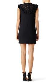 Black Scallop Ruffle Mini Dress by Giambattista Valli