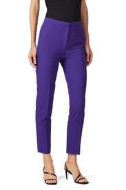 Purple Highwaist Skinny Pants by Milly