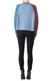 Multi Colorblock Sweater by Jil Sander Navy