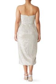 Sequin Faux Wrap Dress by ML Monique Lhuillier
