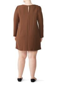 Brown Wendy Dress by Amanda Uprichard