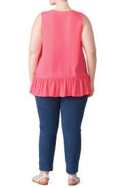 Pink Gramercy Top by Lilly Pulitzer