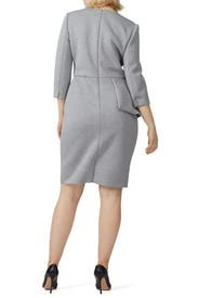Heather Grey Scuba Sheath by Badgley Mischka