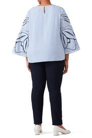 Blue Martine Top by Tanya Taylor