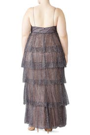 Glitter Tiered Gown by Marchesa Notte