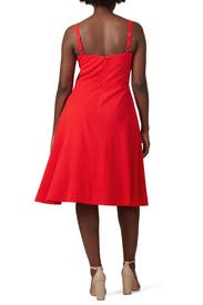 Red Bianca Sweetheart Dress by Dress The Population
