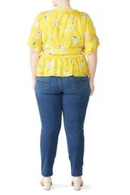 Yellow Fabiana Top by Tanya Taylor