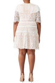 White Lace Dress by ML Monique Lhuillier