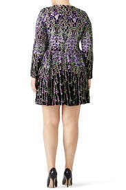 Purple Floral Dress by Badgley Mischka