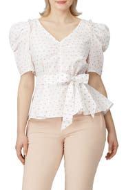 Dot Cotton Drape Blouse by kate spade new york