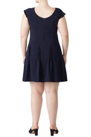 Navy Pintuck Dress by Slate & Willow