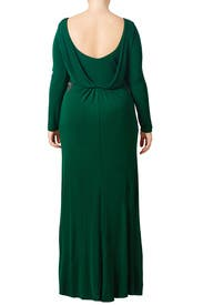 Kelly Green Gown by Badgley Mischka