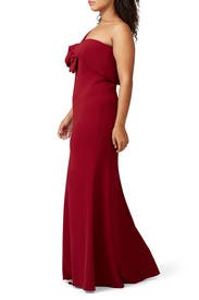 Ruby One Shoulder Gown by Badgley Mischka