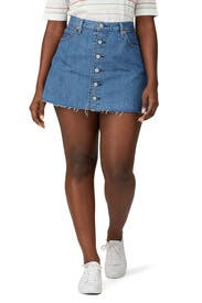 Denim Button Front Mini Skirt by Levi's