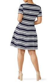 Navy Nautical Stripe Dress by Slate & Willow