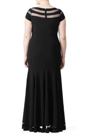 Illusion Panel Gown by JS Collection