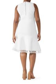 White Diamond Cut Dress by Milly