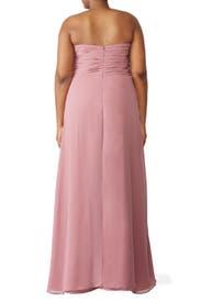 Cerise Jordan Gown by Monique Lhuillier Bridesmaid