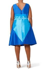 Blue Spear Dress by Theia