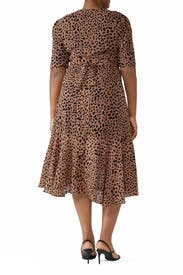 Leopard High Low Wrap Dress by Fame & Partners