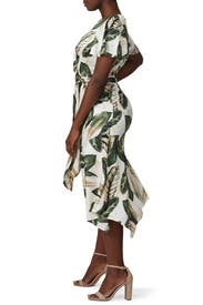 Palm Printed Tie Back Dress by Great Jones