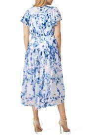 Floral Tie Waist Maxi by ML Monique Lhuillier