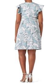 Aqua Mist Dress by Theia