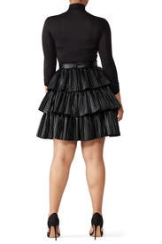 Faux Leather Demi Skirt by nha khanh